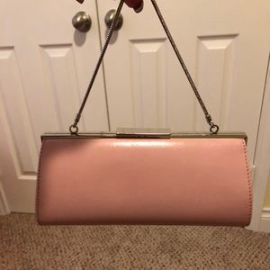 Cute pastel pink Banana Republic clutch.
